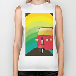 Tuk Tuk: Ride Waves of Color Biker Tank