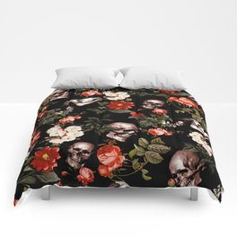 Floral and Skull Dark Pattern Comforters
