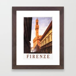 Vintage Florence Italy Travel Framed Art Print