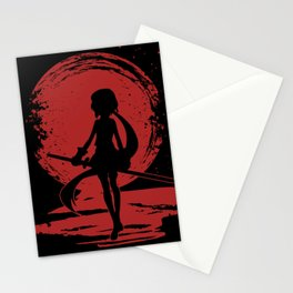 Red Moon Lady Stationery Cards
