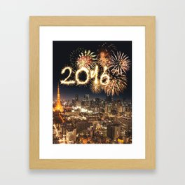 2016 new year in tokyo Framed Art Print