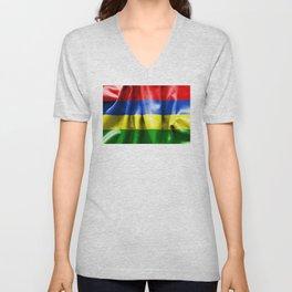 Mauritius Flag Unisex V-Neck