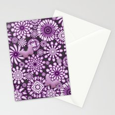 Ceramic Flowers & Butterflies (Acai) Stationery Cards