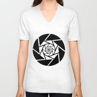 aperture V-neck T-shirts featuring Aperture Vector by Alli Vanes