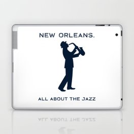 New Orleans Music Festival Jazz Saxophone Musician Design Laptop & iPad Skin