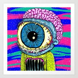 Morty Monster Art Print