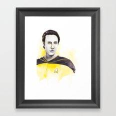 Lieutenant Commander Data Framed Art Print