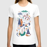 camp T-shirts featuring Bear camp by Demi Goutte