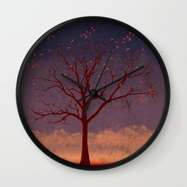 Geo Tree Wall Clock