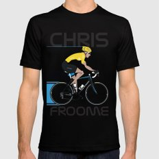 Chris Froome Yellow Jersey MEDIUM Mens Fitted Tee Black