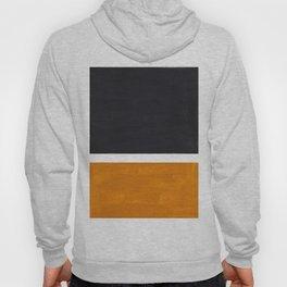 Black Yellow Ochre Rothko Minimalist Mid Century Abstract Color Field Squares Hoody