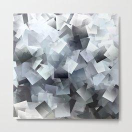 White Cubes Metal Print