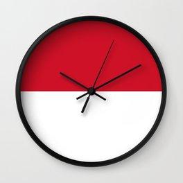 Flag: Indonesia Wall Clock