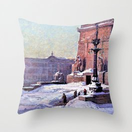 Soldiers and Sailors Monument of Indianapolis - Theodore Clement Steele Throw Pillow
