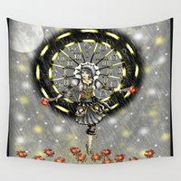 cancer Wall Tapestries featuring Cancer by Lady Amethystine