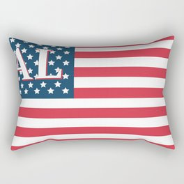 Alabama American Flag Rectangular Pillow
