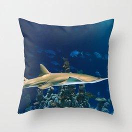 Carpenter Shark Throw Pillow