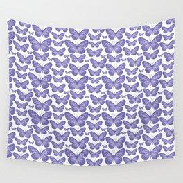Purple Butterfly Pattern Wall Tapestry