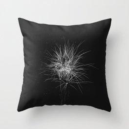 Fireflies (Black) Throw Pillow
