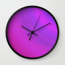 Purple & Blue Arcs | Bright gradient pattern Wall Clock