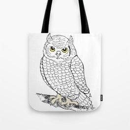 Cute Owl by Ines Zgonc Tote Bag