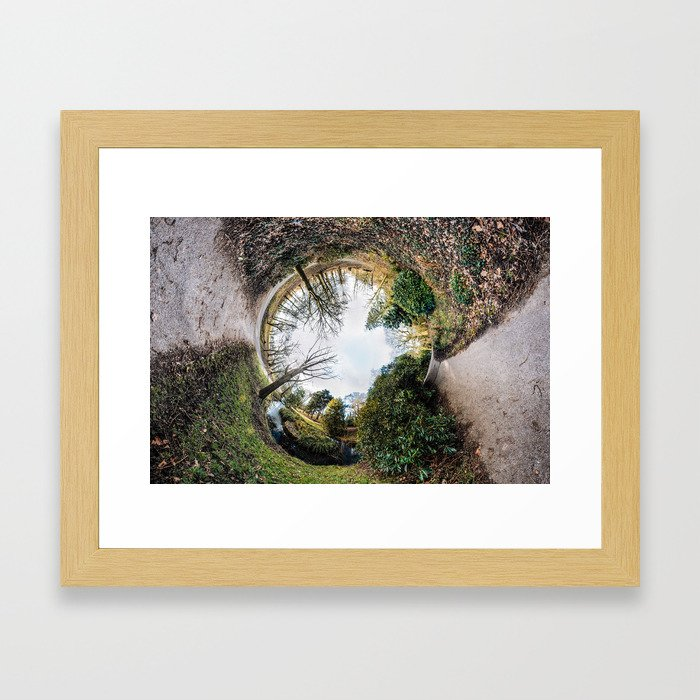 [N]Ever Green #2 The Rabbit Hole. Framed Art Print
