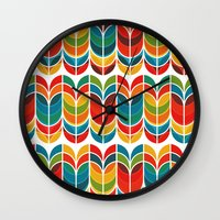 tulip Wall Clocks featuring Tulip by Picomodi