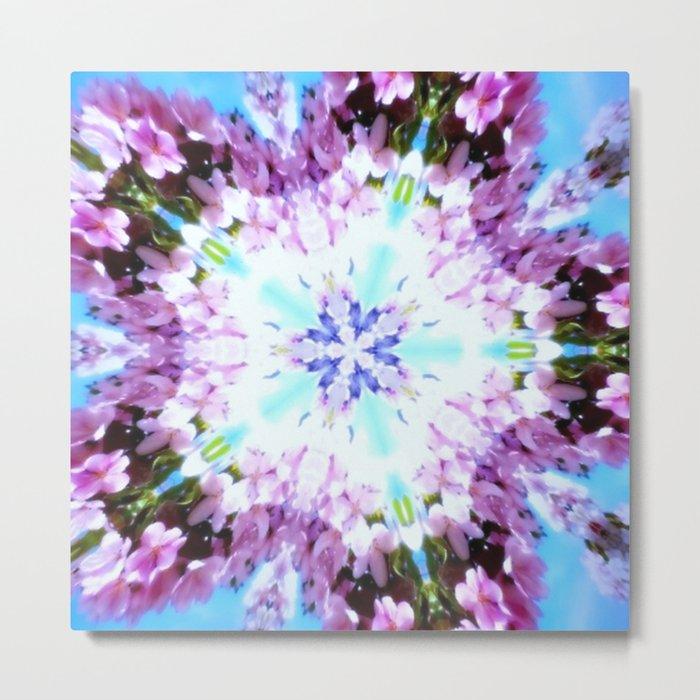 Purple Flower Power Series Metal Print