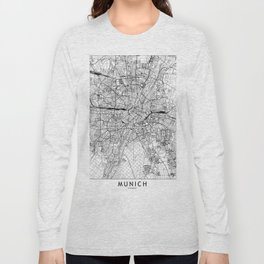 Munich White Map Long Sleeve T-shirt