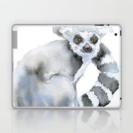 Ring-tailed Lemur Watercolor Laptop & iPad Skin