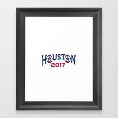 American Football Houston 2017 Word Retro Framed Art Print