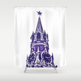 Kremlin Chimes-violet Shower Curtain