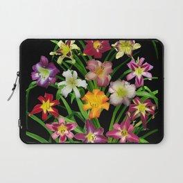Display of daylilies II on blck Laptop Sleeve