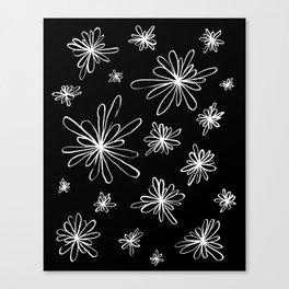 Energy Flowers Reverse Canvas Print