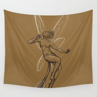 fairy Wall Tapestries featuring Fairy by Madoca
