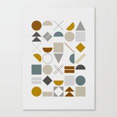 Mid West Geometric 01 Canvas Print