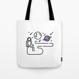 A Long Journey Ahead - Space Tote Bag