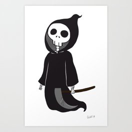 Cute death Art Print