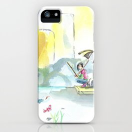 I Can Fish in Puddles iPhone Case