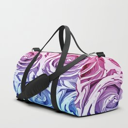 closeup pink rose and blue rose texture pattern abstract background Duffle Bag