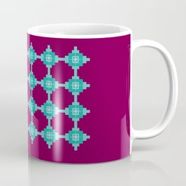 Blue Fretwork Coffee Mug