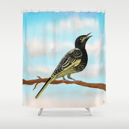 The Regent Honeyeater - Australian Precious Bird Shower Curtain