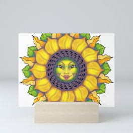 Sunflower Sunshine Girl by Amanda Martinson Mini Art Print