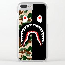 Bape Shark Pattern Clear iPhone Case
