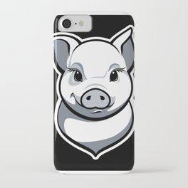 Piggy black & white iPhone Case
