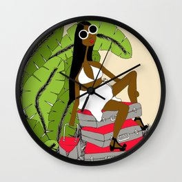 Bags Packed Wall Clock