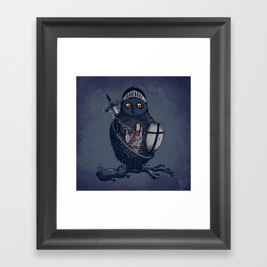 Night Watchman Framed Art Print