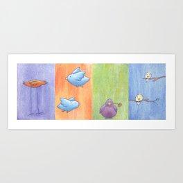 """Birds In A Row"" Art Print"
