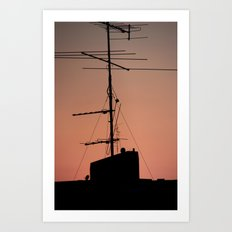 Antenna in its natural habitat Art Print