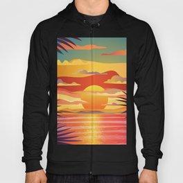 Colorful Orange Gradient Beach Sunset Hoody